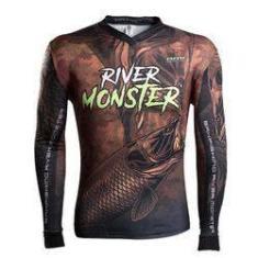Imagem de Camisa de Pesca Brk River Monster Trairão - Infantil M