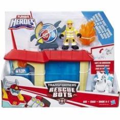 Imagem de Transformers Playskool Rescue Bots Garagem De Griffin - Hasbro B4964