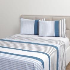 Imagem de Jogo De Cama King Zara 150 Fios 4 Peças - Casa & Conforto