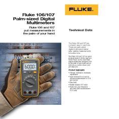 Imagem de Multímetro Digital 3 ½ Dígitos Tensão/Corrente AC/DC CAT III Fluke-106