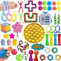 Imagem de Brinquedos Quentes Pop It Fidget Toy -Fidget Spinner-1/4/49PCS