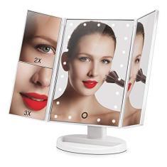 Imagem de Espelho para MAQUIAGEM de Mesa ARTICULADO Luz 20 LEDs s Portátil USB