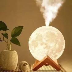 Imagem de Luminária Abajur Umidificador E Aromatizador Lua Cheia 3d