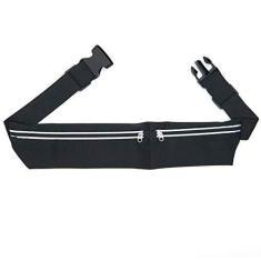 Imagem de DAYUANDIAN Bolsa de cintura esportiva – Bolsa unissex moderna com bolso duplo para corrida, cinto para celular, bolsa de cintura, bolsa esportiva para viagem