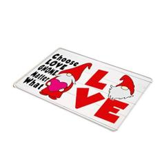Imagem de Cucudai Dia dos Namorados tema amor boneca sem rosto tapete retangular tapete antiderrapante para banheiro, cozinha, quarto, decoração de casa - 4