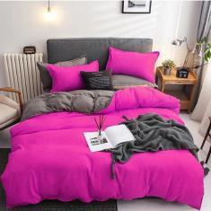 Imagem de Jogo De Cama Solteiro 7 Peças Com Edredom Pink Grey