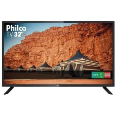 "TV LED 32"" Philco PTV32F10D 2 HDMI USB Frequência 60 Hz"