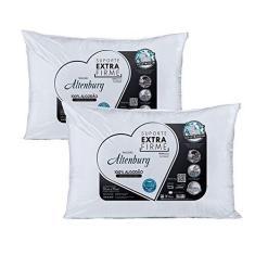 Imagem de Kit 2 Travesseiros Extra Firme 180 Fios 50x70cm - Altenburg