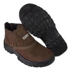 Imagem de Botina Bota Sapato Segurança Bico Pvc Nobuck Café C.a 122n