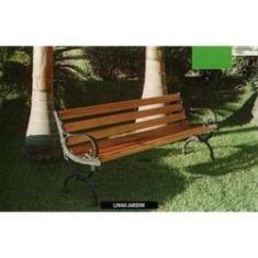Imagem de Banco Jardim em Alumínio Fundido com Madeira Unifer Móveis