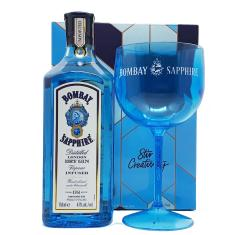 Imagem de Kit Gin Bombay Sapphire 750ml com 1 Taça Exclusiva