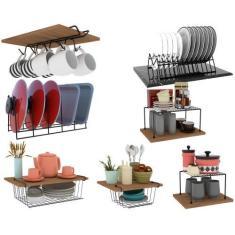 Imagem de Kit 07 Organizador Armário Cozinha Xícara Prato Panela  - Dicarlo