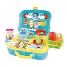 Imagem de Mercadinho Infantil Maleta Caixa Registradora 3 Em 1 - Dm Toys