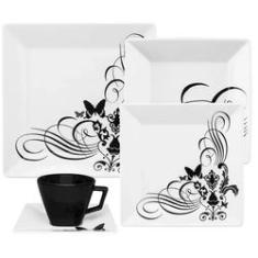 Imagem de Aparelho Jantar e Chá 20 Peças Quartier Tattoo Oxford Porcelanas