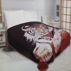 Imagem de Cobertor Super Soft Solteiro 640g/m² Tigre Realce Top Sultan