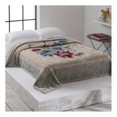 Imagem de Cobertor Corttex Home Design Cinta Casal bege Berenice