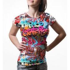 Imagem de Camiseta Baby Look Feminina Grafite Hip Hop Grafiti