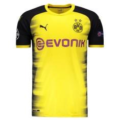 3d8eb5b4e Camisa Borussia Dortmund III 2017 18 Sem Número Torcedor Masculino Puma