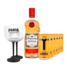 Imagem de Gin Tanqueray Sevilla 700ml+ 6 Tônicas Prata 269ml+ 2 Taças
