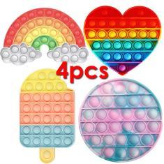 Imagem de Fid Toys Hand Spinner Pop It Colorful Bubble,4pcs