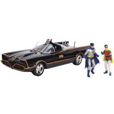 Imagem de Batman & Robin Classic Tv Series Batmobile With Lights 1/18 - Dc Comics - Metals Die Cast - Jada