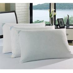 Imagem de Travesseiro Agarradinho 15% Pluma 85% Pena 50 x 90 - Percal 233 Fios - Plumasul