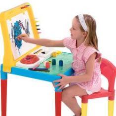 Imagem de Mesa Infantil Pequeno Artista com Cadeira e Quadro 9052 Bell Toy