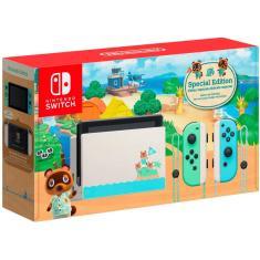 Imagem de Console Portátil Switch 32 GB com Joy Con Nintendo Animal Crossing New Horizons Edition