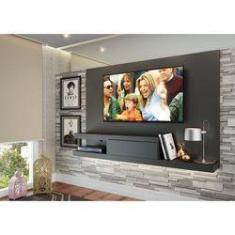 Imagem de Painel para TV até 50 polegadas c/ 1 gaveta Grafite - Quiditá