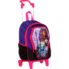 Mochila com Rodinhas Escolar Sestini Monster High 13 Litros Monster High 62982