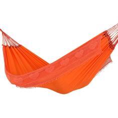Imagem de Rede Dormir Descanso Sol A Sol Laranja Casal Resistente Luxo
