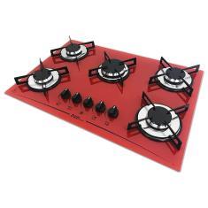 Cooktop D&D Metal 5 Bocas Acendimento Superautomático