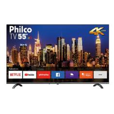 "Smart TV LED 55"" Philco 4K PTV55Q20SNBL 3 HDMI"