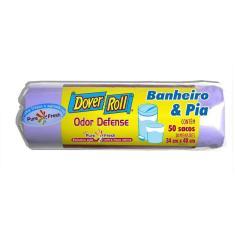 Imagem de Saco Para Lixo Dover Roll Banheiro & Pia 34 X 40cm Com 50Un