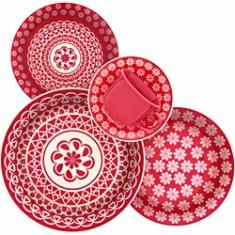 Aparelho de Jantar Redondo de Cerâmica 30 peças - Renda Biona
