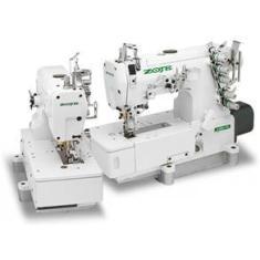Imagem de Maquina de costura Galoneira Industrial Zoje Base Plana fechada c/Direct Drive 6.4mm
