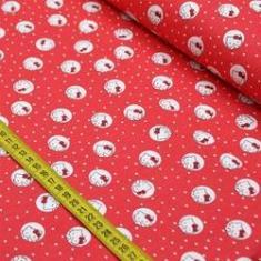 Imagem de Tecido Estampado para Patchwork - Hello Kitty Dots Fundo  (0,50x1,40)
