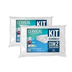 Imagem de Kit De Travesseiros Ortopédicos 50x70x14cm 4276 100% Poliuretano  Fibrasca - 2 Peças
