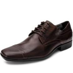 Imagem de Sapato Masculino Social Casual Alongado Couro Legítimo Cor Marrom Escuro Marca Pierrô