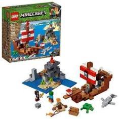 Imagem de LEGO Minecraft The Pirate Ship Adventure 21152 Building Kit (386 Pieces)