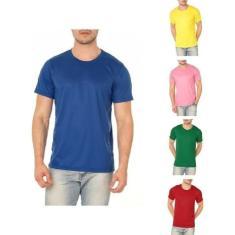 Imagem de Kit 5 Camisetas Básicas Masculina 100% Poliéster Cores Sortidas