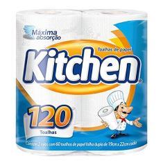 Imagem de Papel Toalha Folha Dupla Kitchen 120 Folhas