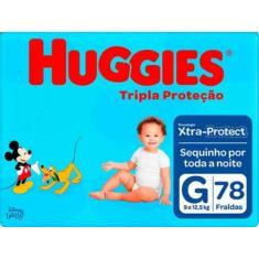 Fralda Huggies Disney Tripla Proteção Tamanho G 78 Unidades Peso Indicado 9 - 12,5kg