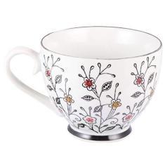 Imagem de Yardwe Vintage Britânico Xícara de Chá Xícaras de Cappuccino Xícaras de Café de Porcelana Fina de Osso Xícara de Chá Xícara de Chá de Porcelana Caneca Café Da Manhã Xícara de Café
