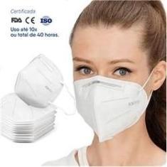 Imagem de Máscara De Proteção Hospitalar KN95 Com Clip Nasal C/10 Unid