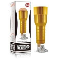 Masturbador Masculino com Ventosa High Quality Desire Cup, Vipmix, Dourado