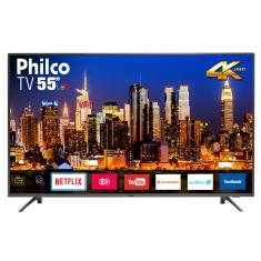 "Smart TV LED 55"" Philco 4K HDR PTV55F61SNT 3 HDMI"
