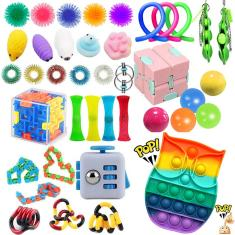 Imagem de 1-40pcs Infinity Fidget Toy Magic Stress Aliviador de Stress e Ansiedade Crianças Adultos 'Meninos'
