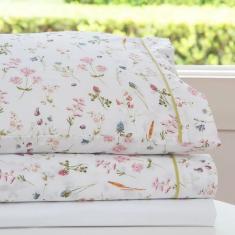 Imagem de jogo de cama queen scavone 200 fios 100% algodão jasmine