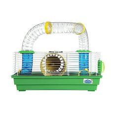 Imagem de Gaiola Para Hamster Roedores Bragança com Tubos Divertidos 3 Andares Verde